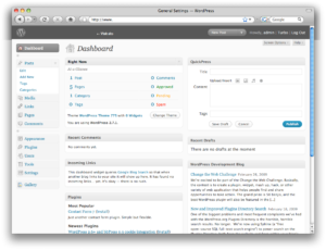 Example of WordPress Back-end